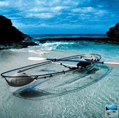 clear kayak, cool!