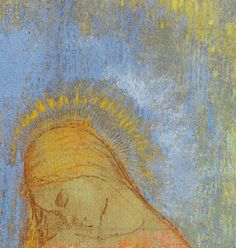 Visitation (Mystic Conversation) detail, c. 1896 Musée d'Orsay  8th grade renaissance stylized profile portrait project idea
