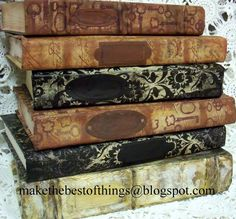 Make The Best of Things: How to Restyle Books to Look Like Vintage Decor Part 1