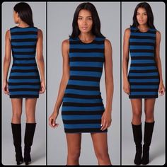 DVF rigmora  ribbed knit dress Casual and chic at the same time! Wear this with your favorite black boots and you have an outfit that is sure to flatter. Hugs all of your curves without being overly constricting. Well loved but still has tons of life! ❌NO TRADES❌ a couple small stains near the neckline but they are hardly noticeable Diane von Furstenberg Dresses
