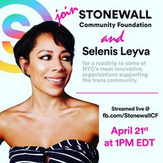 """1,582 Likes, 17 Comments - Selenis Leyva (@selenisleyvaofficial) on Instagram: """"Tomorrow I will be partnering up with #stonewall foundation and touring facilities in NYC that…"""""""