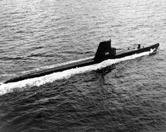 Catfish (SS-339) underway, during her visit to the Far East, 1956.