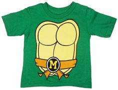 Teenage Mutant Ninja Turtles Michelangelo Costume / T Shirt only $15.95 at #kiditude