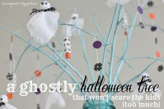A ghostly Halloween tree!