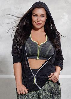 Active wear   plus size activewear - ZIP CROP BRA - TS14