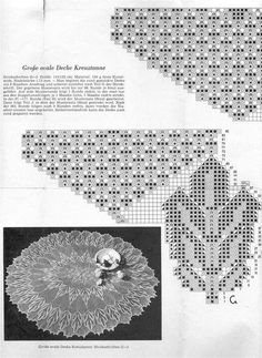 "Photo from album ""АЖУР спицами"" on Yandex. Lace Knitting Patterns, Doily Patterns, Knitting Designs, Knitting Stitches, Knitting Projects, Stitch Patterns, Lace Doilies, Crochet Doilies, Knitted Shawls"