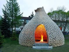 Built by Haugen/Zohar Arkitekter in Trondheim, Norway with date Images by Jason Havneraas & Grethe Fredriksen. The office was invited by the municipality of Trondheim to suggest an outdoor project for a kindergarten. Outdoor Spaces, Outdoor Living, Unique Garden, Big Garden, Outdoor Fireplace Designs, Outdoor Fireplaces, Green Architecture, Wooden Architecture, Architecture Design
