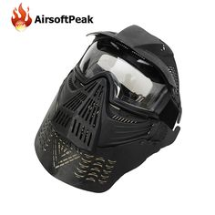 Airsoftpeakミリタリーフルフェイスペイントボールマスク陸軍戦術戦争ゲーム保護フェイスマスクゴーグルペイントボールアクセサリー