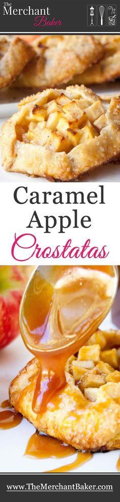 Caramel Apple Crostatas