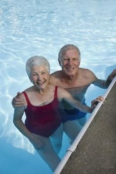 Water aerobic exercise routines / great workout , easy on bones, for Senior's