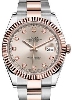 Rolex 126331 Sundust set with diamonds Oyster Bracelet Datejust Rolesor Everose New 2016. #rolex - золотые - швейцарские мужские наручные часы