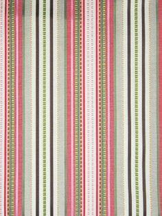 Greenhouse Fabric A7619 - petal Our Price:  $38.99 Per Yard #stripe #pink #green