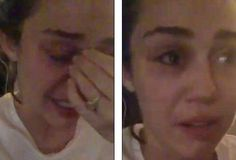 Miley Cyrus tearful pictures after Donald Trump rather than Hillary Clinton