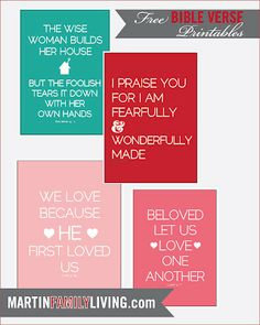 Wonderful FREE printables :)  will need to print some of these for the house