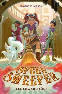 Spell Sweeper There's nothing magical about wizard school . . . at least, not for Cara Moone. Most wizard kids spend their days practicing spells and wielding wands, but Cara? She's on the fast track to becoming a MOP (a.k.a. Magical Occurrence Purger). You see, when a real wizard casts a spell, it leaves behind a residue called spell dust—which, if not disposed of properly, can cause absolute chaos in the nonmagical world. It's a MOP's job to clean up the mess. Wizard School, Book Review Blogs, Spelling, New Books, Illustrators, This Book, It Cast, Princess Zelda, Author