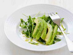 Avokadosalaatti ja hunajainen kastike Avocado Toast, Green Beans, Salads, Vegetables, Breakfast, Recipes, Koti, Breakfast Cafe, Veggies