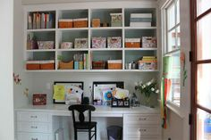 Office Built-Ins by John Marshall Custom Homes, via Flickr