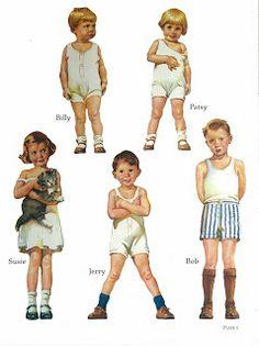 Miss Missy Paper Dolls: Alden Family Paper dolls