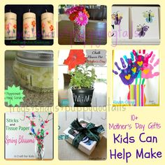 10+ Mothers Day Craft Gift Ideas Kids Can Help Make
