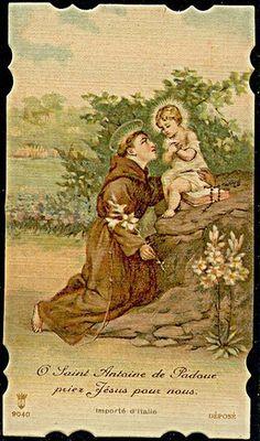 Padua Italy, Saint Anthony Of Padua, Vintage Holy Cards, Catholic Saints, Prayers, Faith, Christian, Pictures, Painting