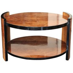 Art Deco Walnut Side Table, 1930s | From a unique collection of antique and modern side tables at https://www.1stdibs.com/furniture/tables/side-tables/