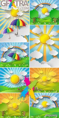 Best 10 Bright abstraction on paper style: sun, trees, golf umbrella, rain – SkillOfKing. Craft Stick Crafts, Preschool Crafts, Kids Crafts, Easy Crafts, Diy And Crafts, Arts And Crafts, Kids Diy, Summer Crafts For Toddlers, Toddler Crafts