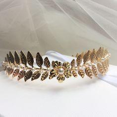 """Couronne de mariée """"""""Priscilla"""" Perles swarovski haute qualité : Accessoires coiffure par les-bijoux-d-aki"""