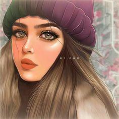 Beautiful Girl Drawing, Cute Girl Drawing, Cartoon Girl Drawing, Cartoon Art, Cartoon Girl Images, Cute Cartoon Girl, Girly Drawings, Art Drawings Sketches Simple, Cute Girl Wallpaper