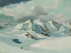 ERIC SLOANE, American (1905-1985), Swiss Slopes, oil on panel, signed and i Shanno's auction estimate 5-7 k  UNSOLD