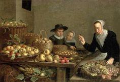 Floris van Schooten--Fruit Stall, c. Fruit Stall, Dutch Golden Age, Dutch Painters, Dutch Artists, Beauty And The Beast, Art History, Still Life, Oil On Canvas, Sculptures