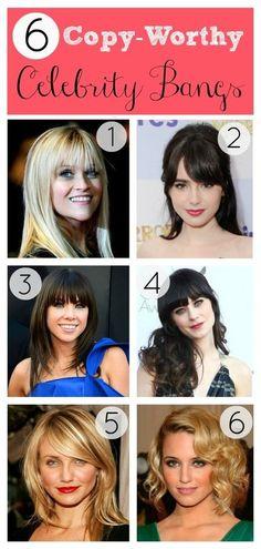Celebrity Bangs! I love #5!