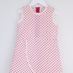 This is a size 3 years, click it home now before someone else does! Easy Sewing Patterns, Love S, Boutique Clothing, Polka Dot Top, Trending Outfits, 3 Years, Red, Clothes, Banana