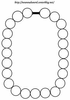 Coloriage collier ou coller des gommettes