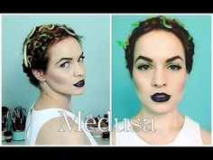 Medusa Halloween Hair Tutorial- even tho I don't even do Halloween this is super cute! Medusa Halloween Costume, Up Halloween, Halloween Dress, Halloween Makeup, Madusa Costume, Medusa Makeup, Villains Party, Make Up Anleitung, Horror Makeup
