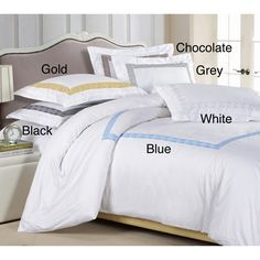 Serena 3-piece Duvet Cover Set | Overstock™ Shopping - Great Deals on Duvet Covers