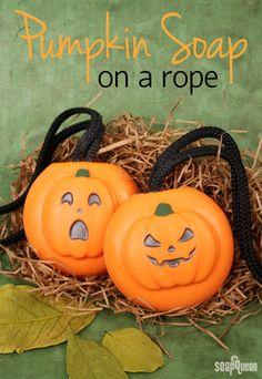 Melt & Pour - Pumpkin Soap on a Rope Tutorial | Soap Queen