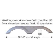 White 2006-2013 Keystone Cougar Laredo New Fender Skirt