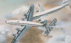 30 Haziran 1956 Tarihinde Büyük Kanyon'da İki Uçağın Havada Birbiri ile Çarpışması Sonucu Meydana Gelen Kaza - Uzayboslugu.com Super Constellation, Airline Flights, United Airlines, Grand Canyon, Aviation, Colorado, The Unit, America, Planes