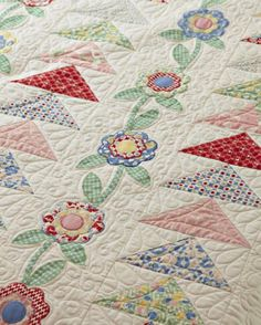 Flowers and Leaves Quilting Designs ~ Fly Into Spring