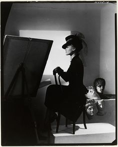 Horst P. Horst, Hat and coat-dress by Bergdorf Goodman, modelled by Estrella Boissevain, 1938. © Condé Nast/Horst Estate