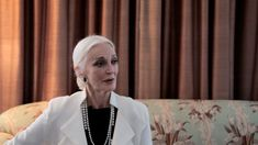 "Vogue.it Carmen Dell'Orefice ""...Fashion for me has always been a tool that i use to experiment and see who i am through what i wear and how people react to me in what i wear..."""