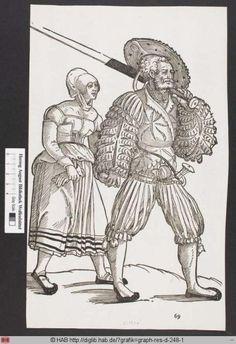 Ein Landsknecht mit seiner Frau. Peter Flotner