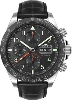 Fortis Watch Cosmonautis Classic Cosmonauts #add-content #bezel-fixed #bracelet-strap-leather #brand-fortis #case-material-steel #case-width-42mm #chronograph-yes #date-yes #day-yes #delivery-timescale-1-2-weeks #dial-colour-black #gender-mens #luxury #movement-automatic #new-product-yes #official-stockist-for-fortis-watches #packaging-fortis-watch-packaging #style-sports #subcat-cosmonautis #supplier-model-no-401-26-11-lci-01 #warranty-fortis-official-2-year-guarantee #water-resistant-100m