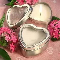 Light for Love Collection Heart Candle Favor Tins Wedding Favors And Gifts, Sweet 16 Party Favors, Wedding Favor Bags, Tin Candles, Tea Light Candles, Wedding Favors Unlimited, Candle Favors, Candle Holders, Tins