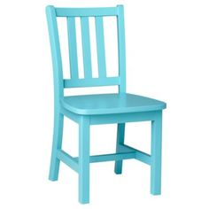 A smaller version of our Parker Desk Chair made in a number of different colors to brighten any playroom.  Our Parker Play Chair is an update of the traditional schoolhouse chair with a contoured and angled back.