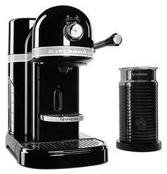 KitchenAid KES0504OB Nespresso Bundle, Onyx Black * Click image for more details.