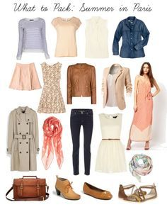 And what outfits would I pack in my Delsey bag? This list has it all - pastels and subtle hues mixed with leather and warm browns. Perfect for spring or summer in Paris - my favorite seasons in France!