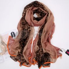 Wool Scarves-Ladies new long leopard decorative scarf
