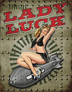 Legends  Lady Luck Tin Sign 12 x 16in *** This is an Amazon Affiliate link. Details can be found by clicking on the image.