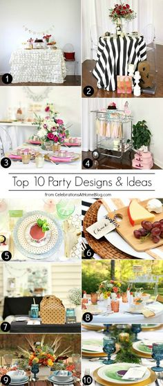 10 favorite party designs and themes to keep you entertaining all year long.